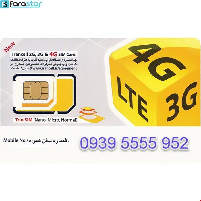 سیم کارت اعتباری رند ایرانسل به شماره 09395555952